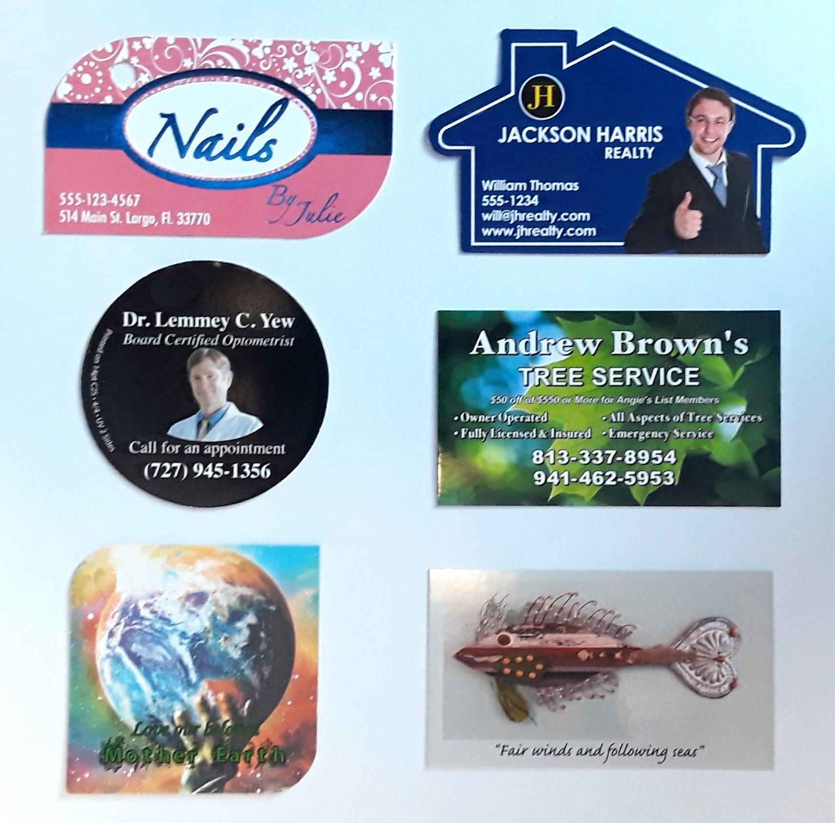 Business Card and Fridge Magnets