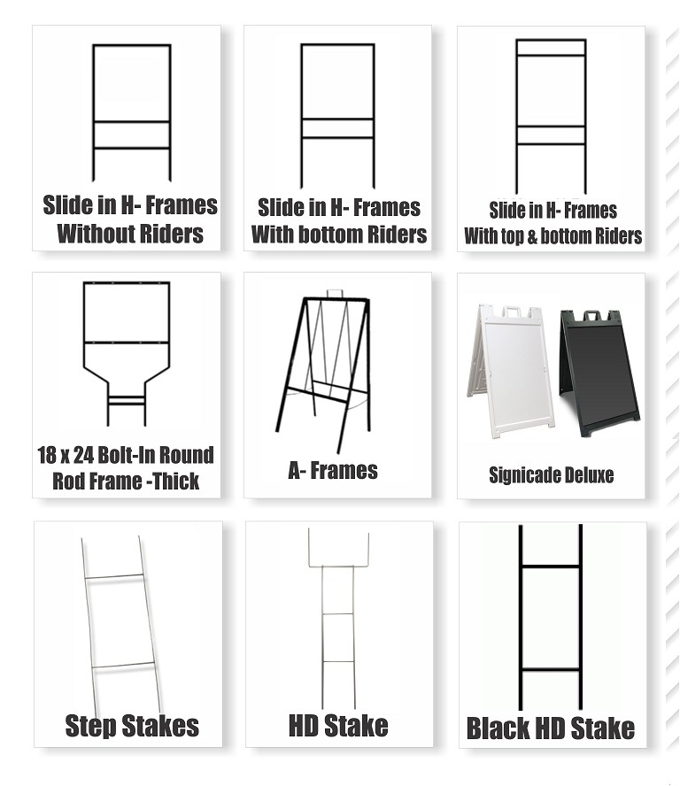 Real Estate Frames and Stakes